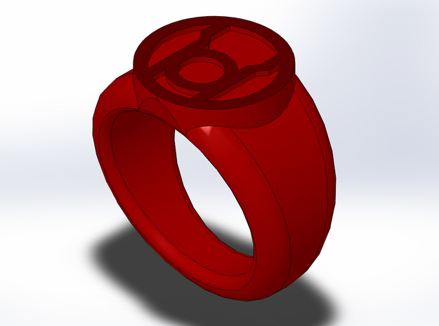 Red Lantern Ring 3d printed