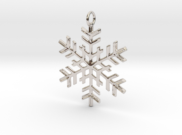 Snowflake Pendant in Rhodium Plated