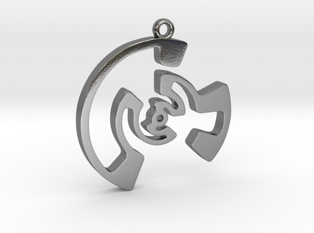 Labyrinth Series #3 in Polished Silver