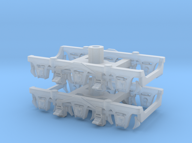1 pair top-equalized trucks, OSB/RAB (1/160) in Frosted Ultra Detail