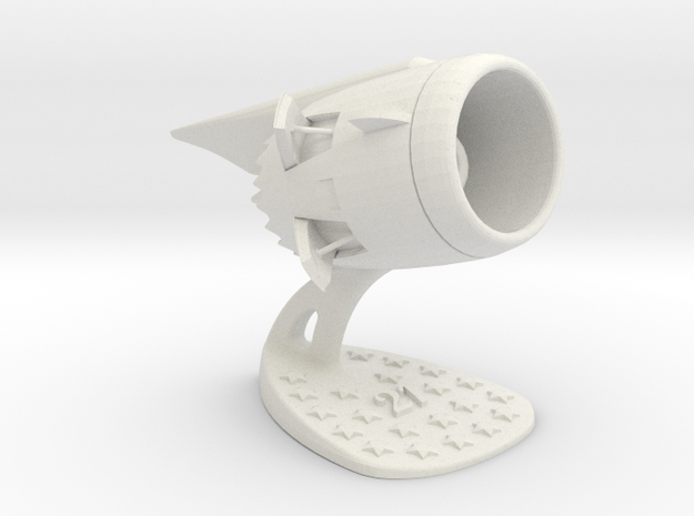 Jet Engine Desk Display [21 Stars] in White Strong & Flexible