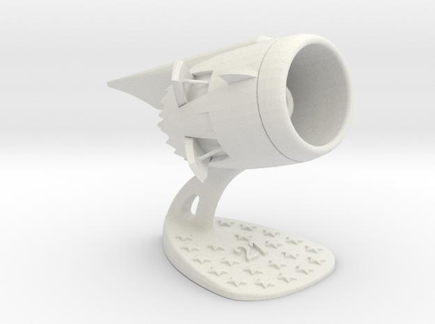 Jet Engine Desk Display [21 Stars] in White Natural Versatile Plastic