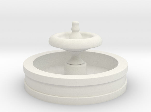 OO Scale Fountain in White Natural Versatile Plastic