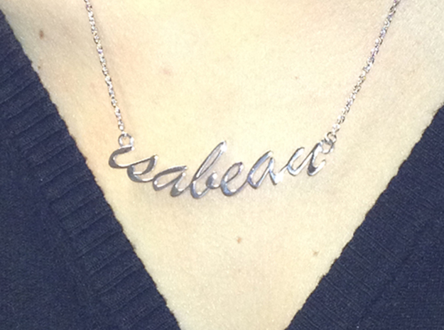 Isabeau Pendant in Polished Silver