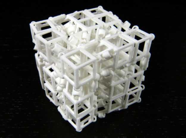 Jitterbox 3x3x3 in White Natural Versatile Plastic
