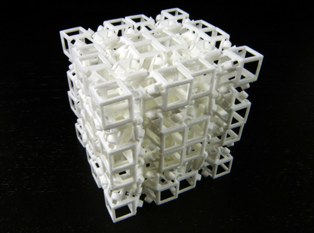 Jitterbox 4x4x4 in White Natural Versatile Plastic