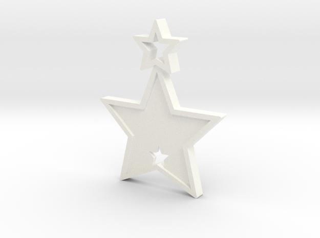 Star Pendant (Customizable) in White Strong & Flexible Polished