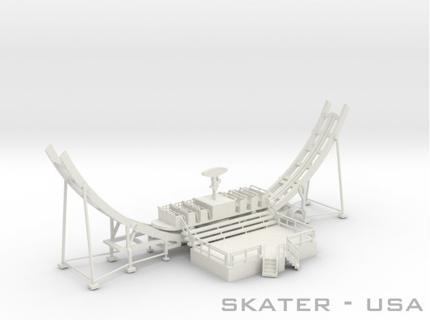 Skater Fahrweg USA - 1:87 (H0 scale) in White Natural Versatile Plastic