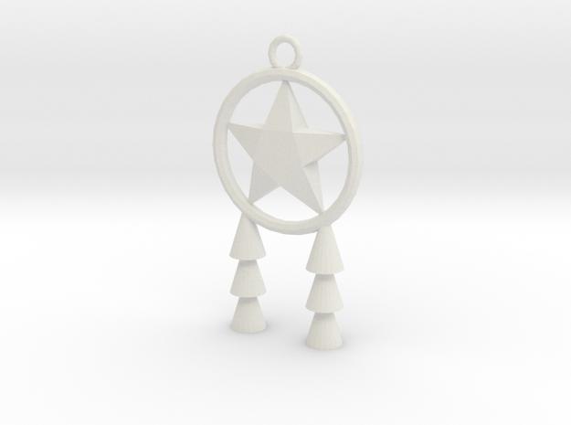 Miniature Parol in White Natural Versatile Plastic