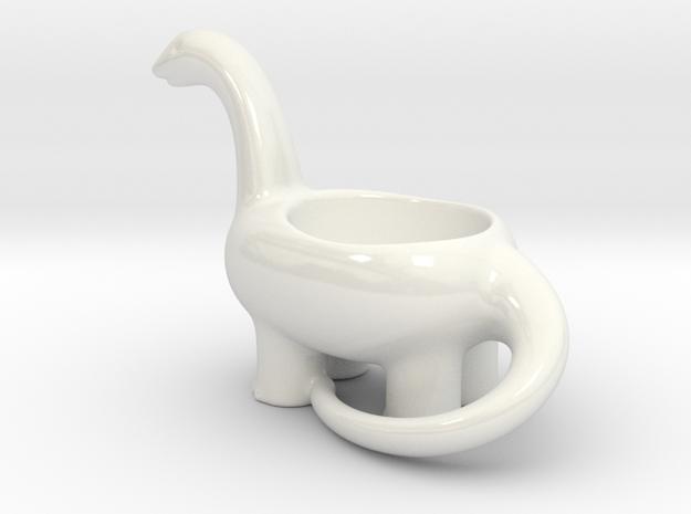 Porcelain Dinosaur Candeholder Planter