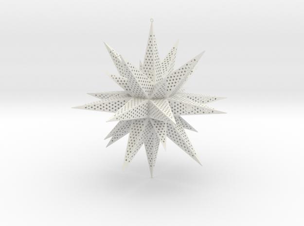 Christmas Star in White Natural Versatile Plastic