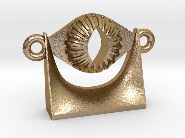Evil Eye - The Burning Eye in Polished Gold Steel
