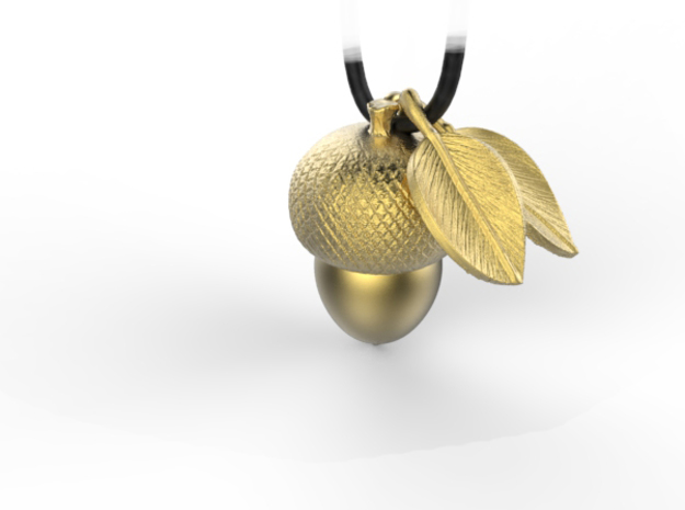 leaves pendant in Natural Brass