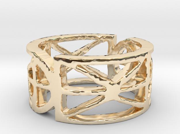 Sefirot Ring Size 7 in 14K Yellow Gold