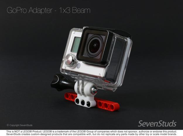 GoPro Mount for LEGO® Technic - 1x3 Beam in White Natural Versatile Plastic