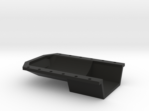 22R 1-10 motor Oil Pan  in Black Natural Versatile Plastic