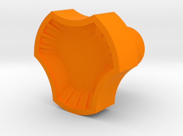 Leather stamp 4, Craftool 502 basketweave design in Orange Processed Versatile Plastic