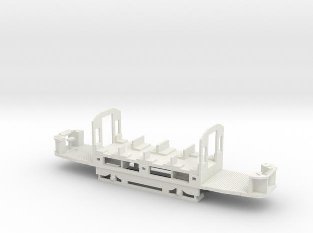 B Wiener Linien Triebwagen Fahrwerk in White Natural Versatile Plastic