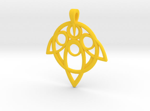 Yuna Summoner Pendant 3d printed
