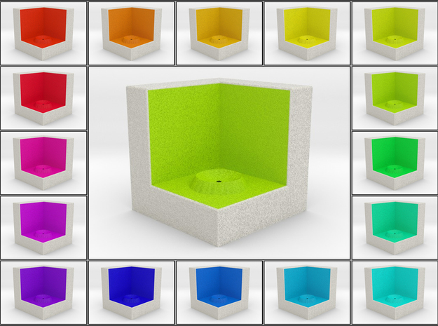 LuminOrb 1.2 -  Cube Stand in Full Color Sandstone