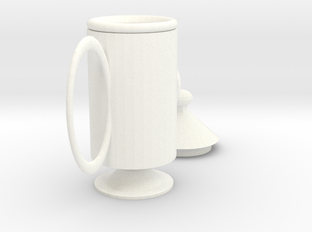 rocket mug in White Processed Versatile Plastic