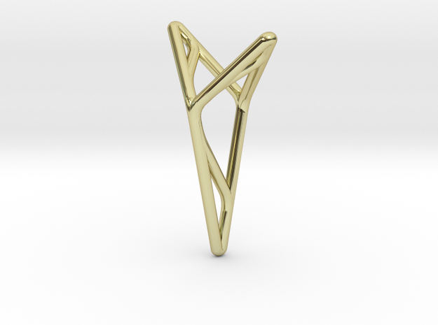 YOUNIVERSAL M3, Pendant. Stylized Pureness in 18k Gold Plated Brass