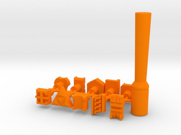 Set of 10 leatherstamps with tool/holder in Orange Processed Versatile Plastic