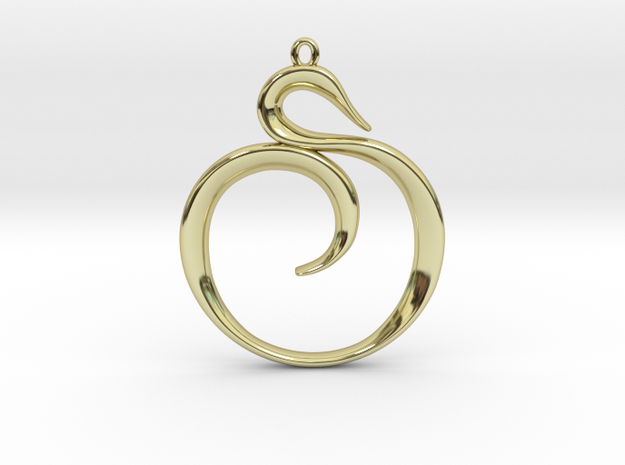 The Spiral Pendant 3d printed