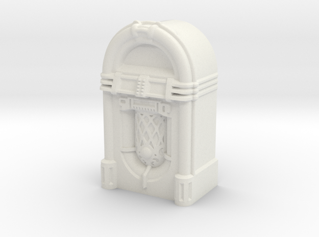 28mm/32mm scale JukeBox  in White Natural Versatile Plastic