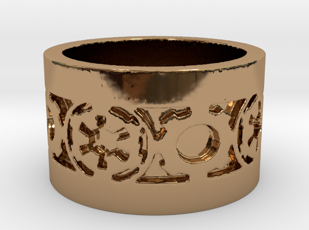 DarkSide Ring beta Size 10 in Polished Brass