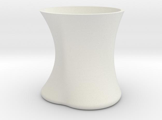 Pig Mug in White Natural Versatile Plastic