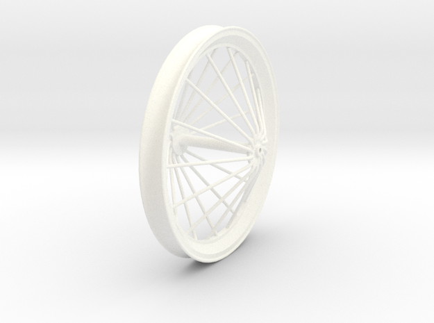 Free Flight Spoked Wheel V2 in White Processed Versatile Plastic