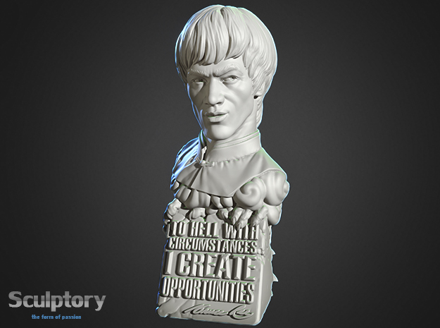 Bruce Lee Bust with Quote, Size M