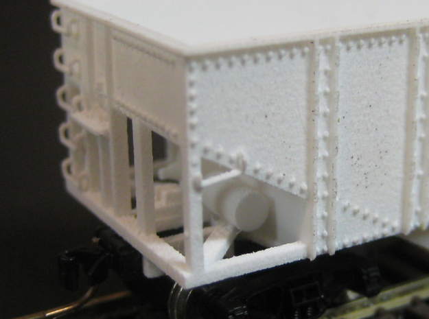 N Scale 55 Ton U Channel Hopper  3d printed