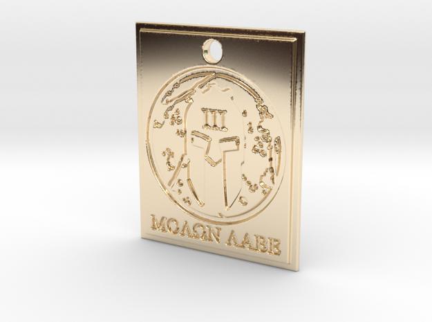 Molon Labe Spartan III% Pendant in 14K Yellow Gold