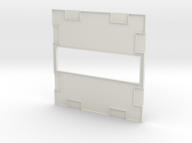 Wall 010 Passthrough in White Natural Versatile Plastic