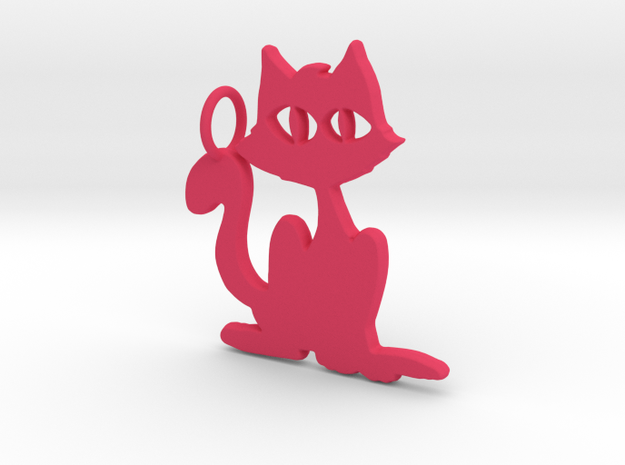 Kitty Pendant in Pink Strong & Flexible Polished