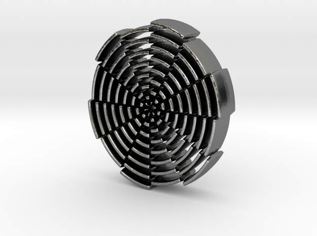 Labyrinth of Man in Polished Silver