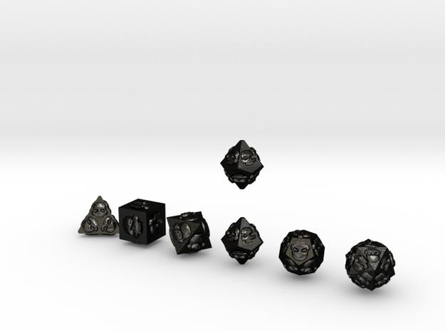 NECRON Outie Sharp skull dice 3d printed