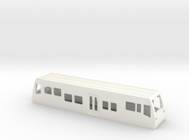 Gehäuse LVT Burgenlandbahn HO 1/87 in White Strong & Flexible Polished