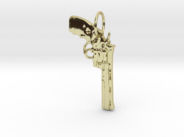 .357 Magnum Pendant in 18k Gold