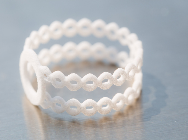 Ring of rings in White Natural Versatile Plastic