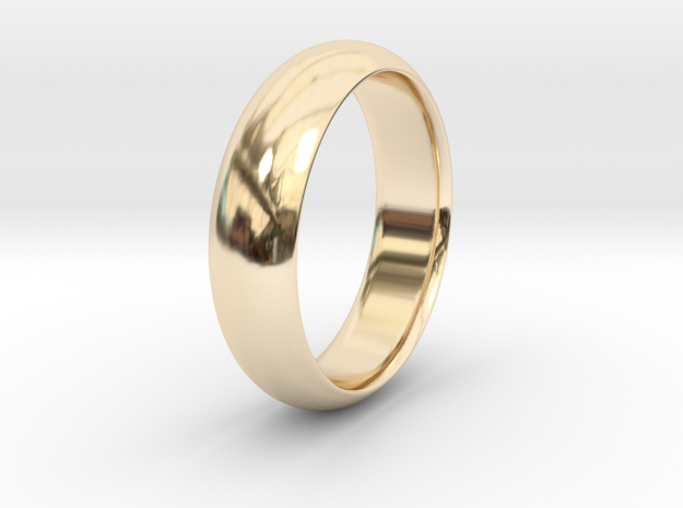 Wedding ring in 14K Yellow Gold