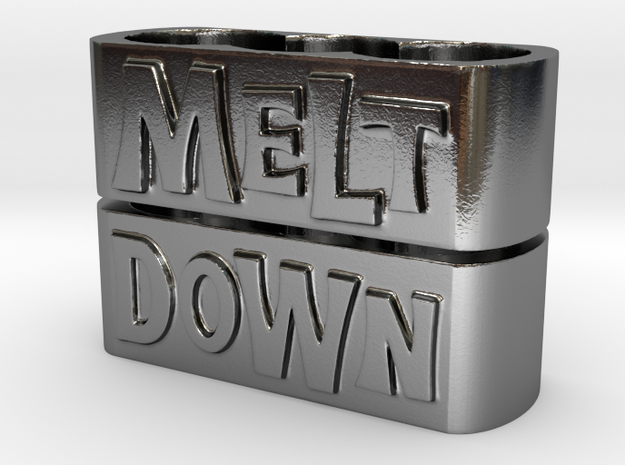 Melt Knuckle Rings (medium size) in Polished Silver