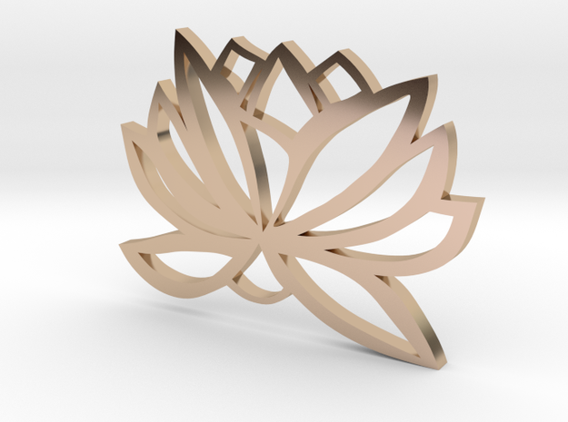 Lotus Design  in 14k Rose Gold