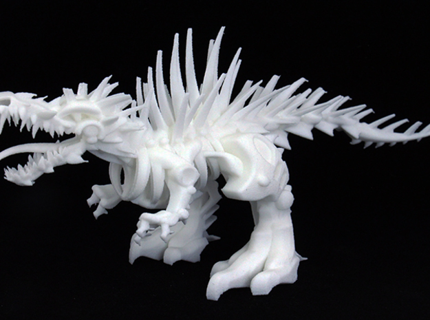 "Raptor V2-3  (100% 16cm - 6.32"") in White Natural Versatile Plastic"