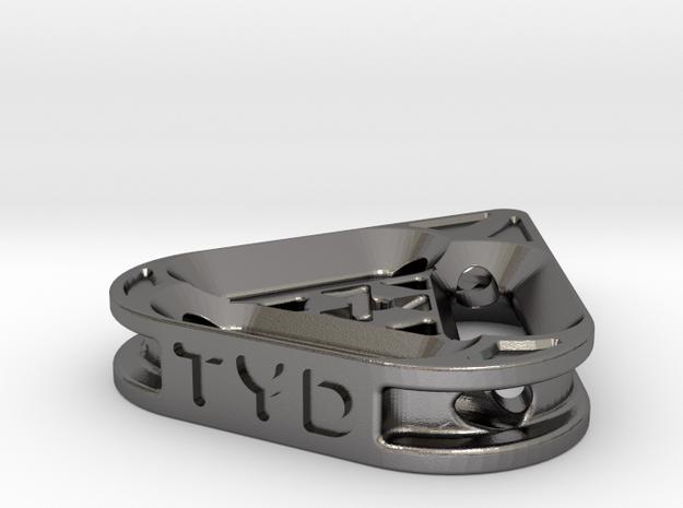 tritium: TriRad pendant in Polished Nickel Steel