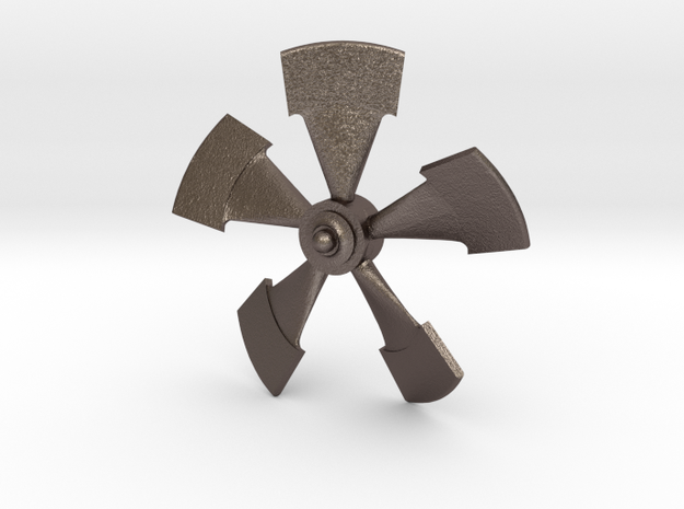 Prop 77 Scale W-shaft1 in Polished Bronzed Silver Steel