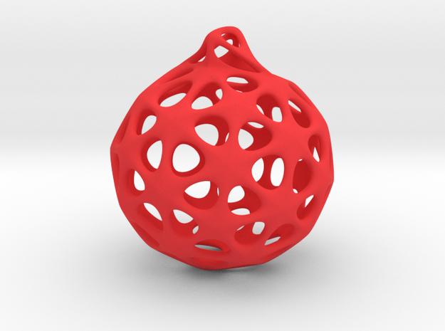Christmas sphere in Red Processed Versatile Plastic