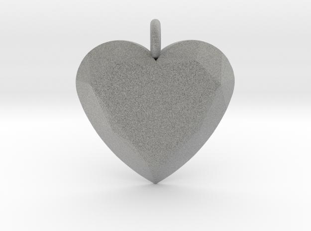 Heart Ornament in Metallic Plastic